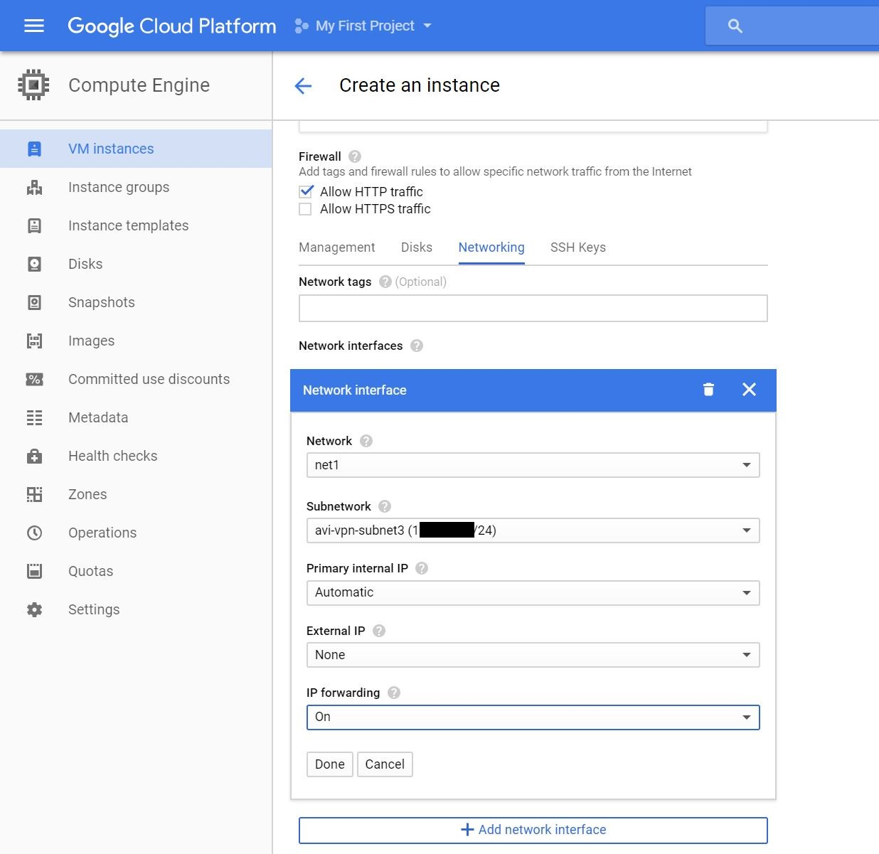 Avi Deployment Guide for Google Cloud Platform (GCP)