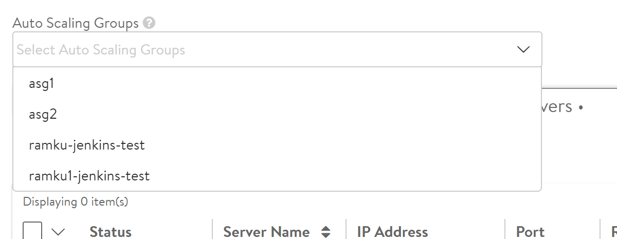 Avi Integration with AWS Auto Scaling Groups