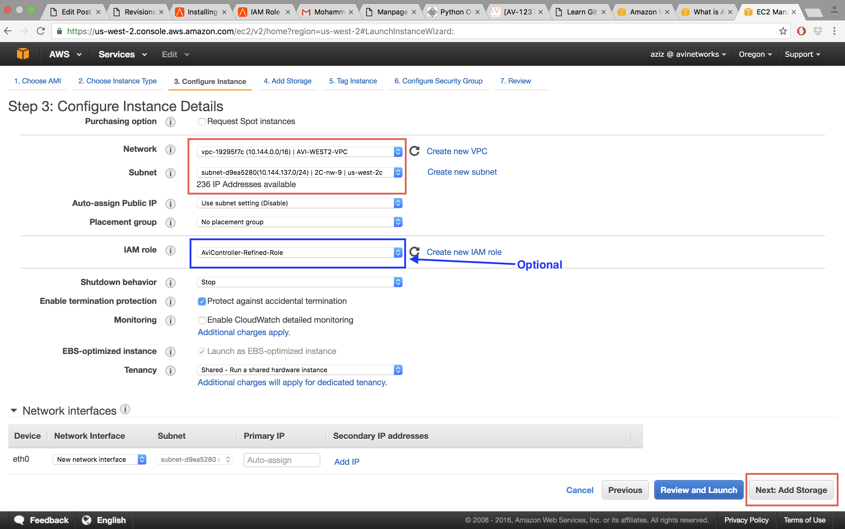 Installing Avi Vantage in Amazon Web Services