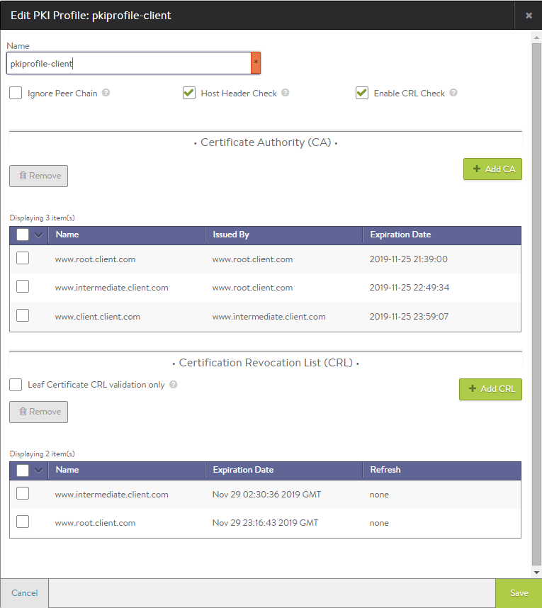 Full Chain Crl Checking For Client Certificate Validation
