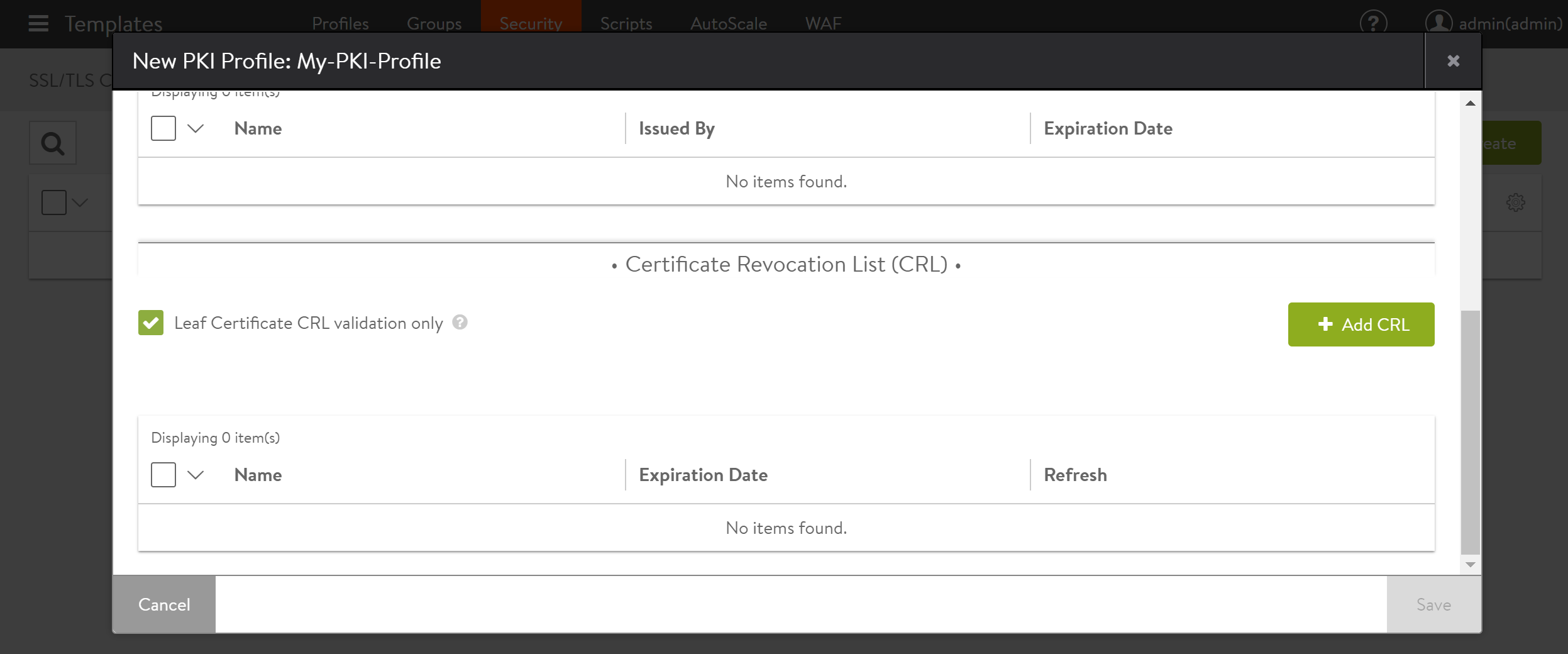 How to Enable Client Certificate Authentication on Avi Vantage