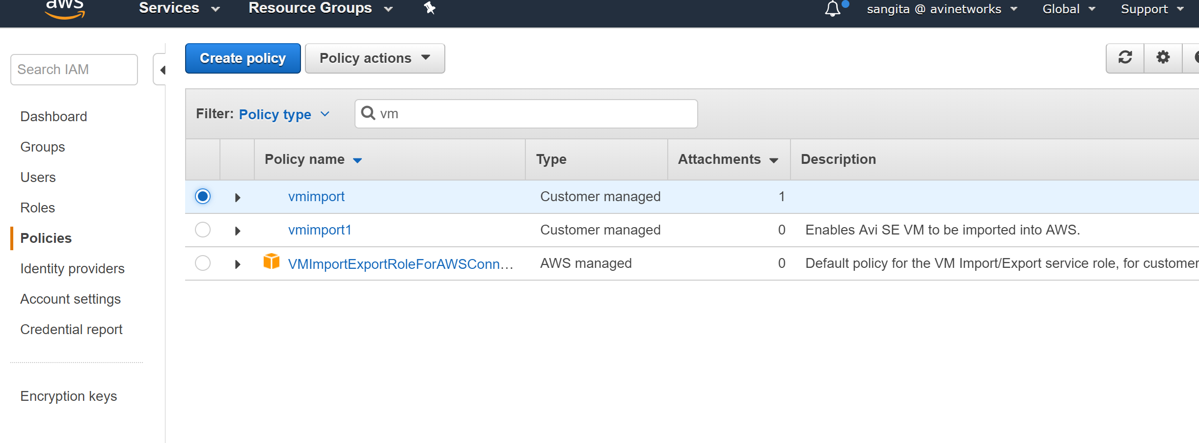 IAM Role Setup for Installation into AWS