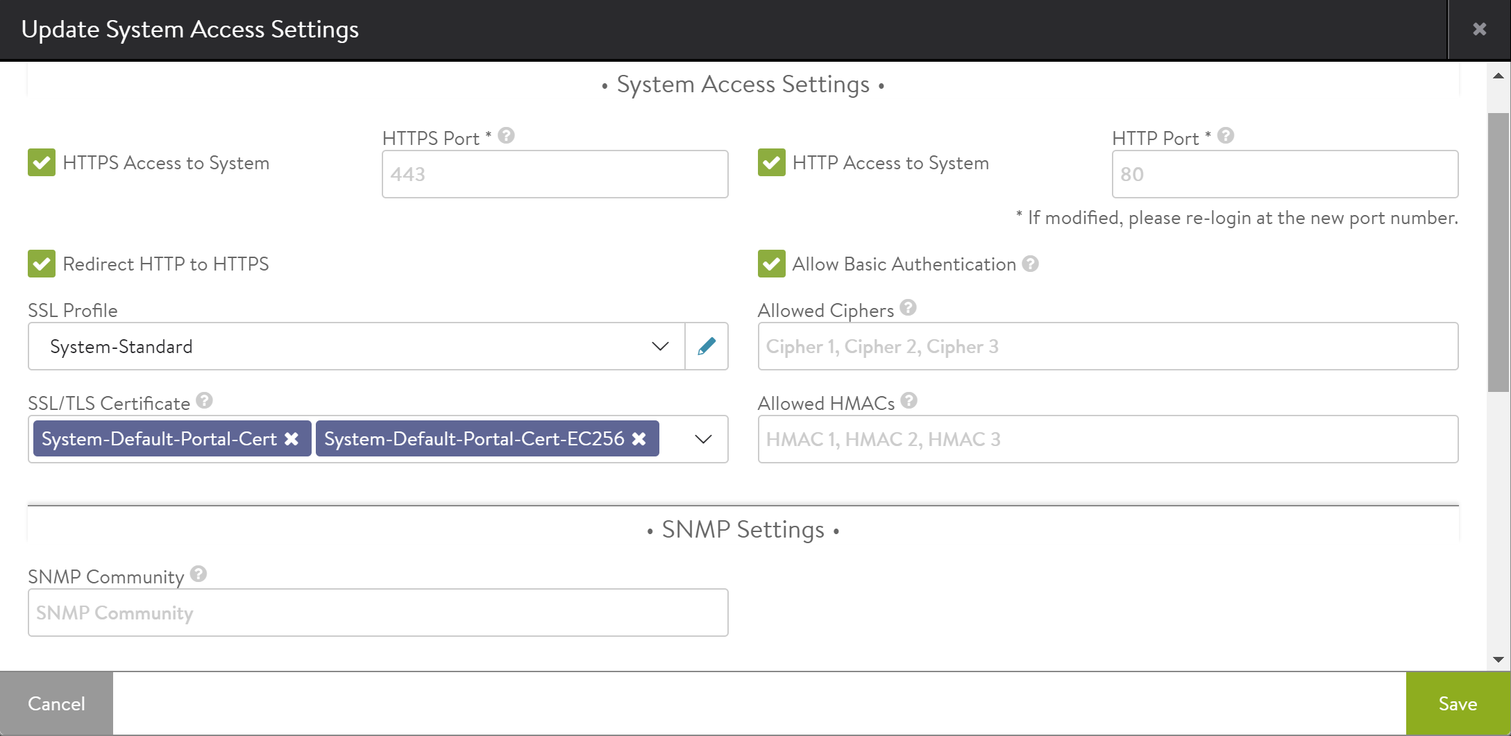 SNMP Support in Avi Vantage