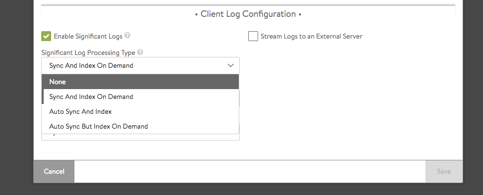 Streaming Avi Vantage Client Logs to an External Server