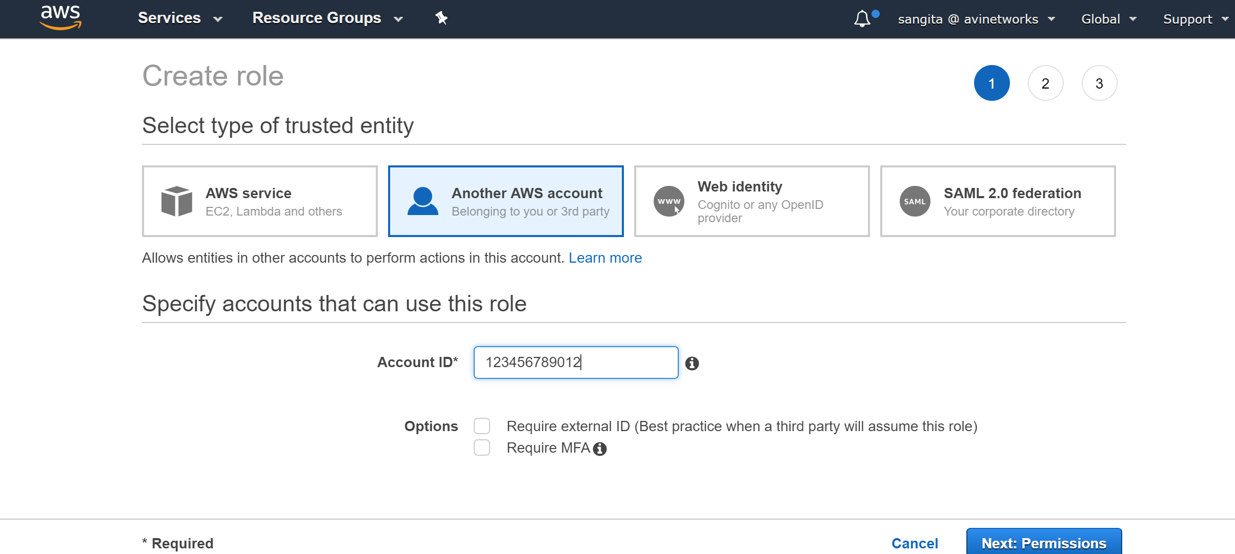 AWS Cross-Account AssumeRole Support