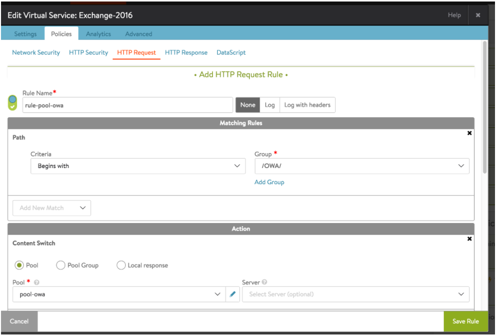 Setting up Microsoft Exchange Server 2016 with Avi Networks