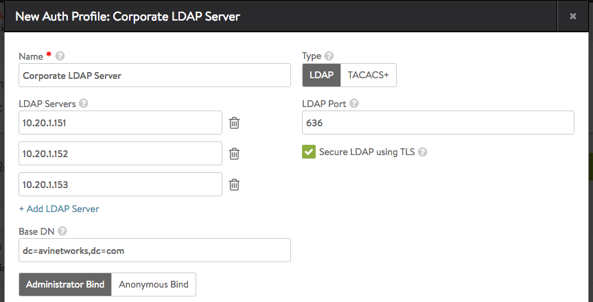 LDAP Authentication
