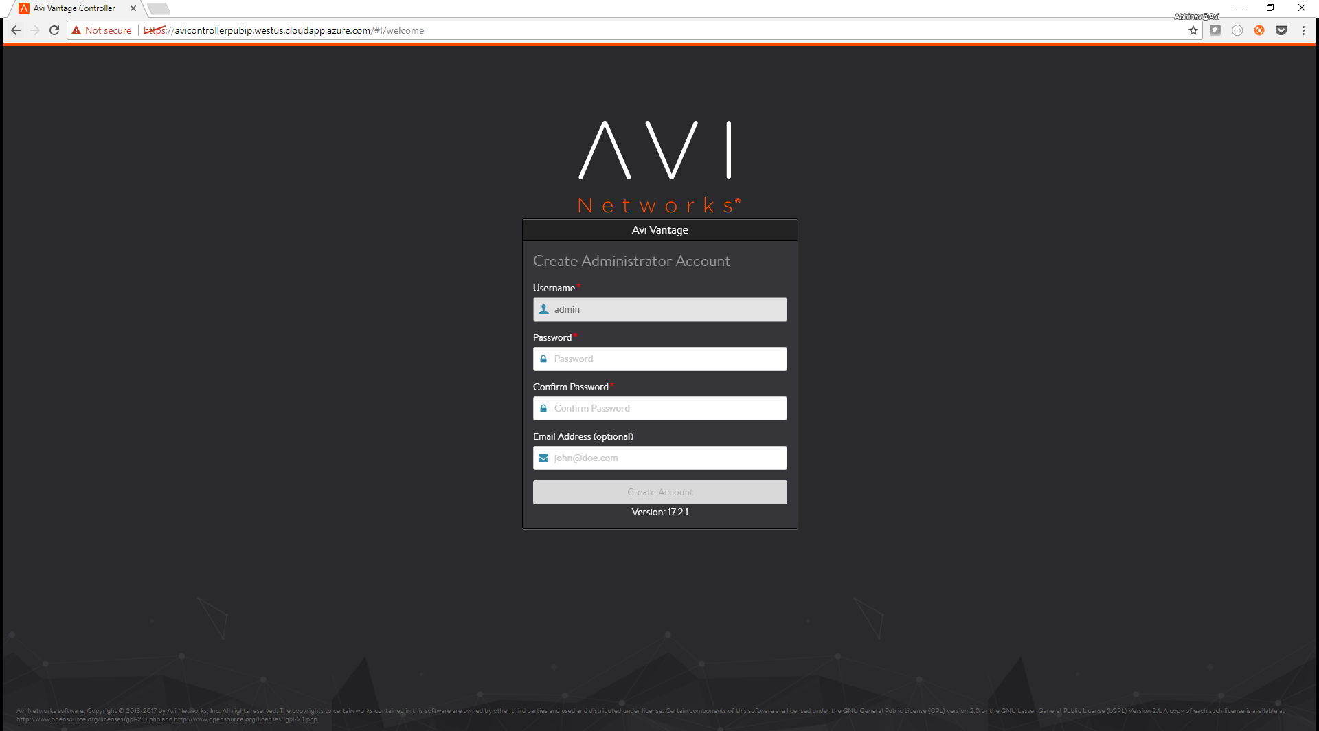 Avi Deployment Guide for Microsoft Azure