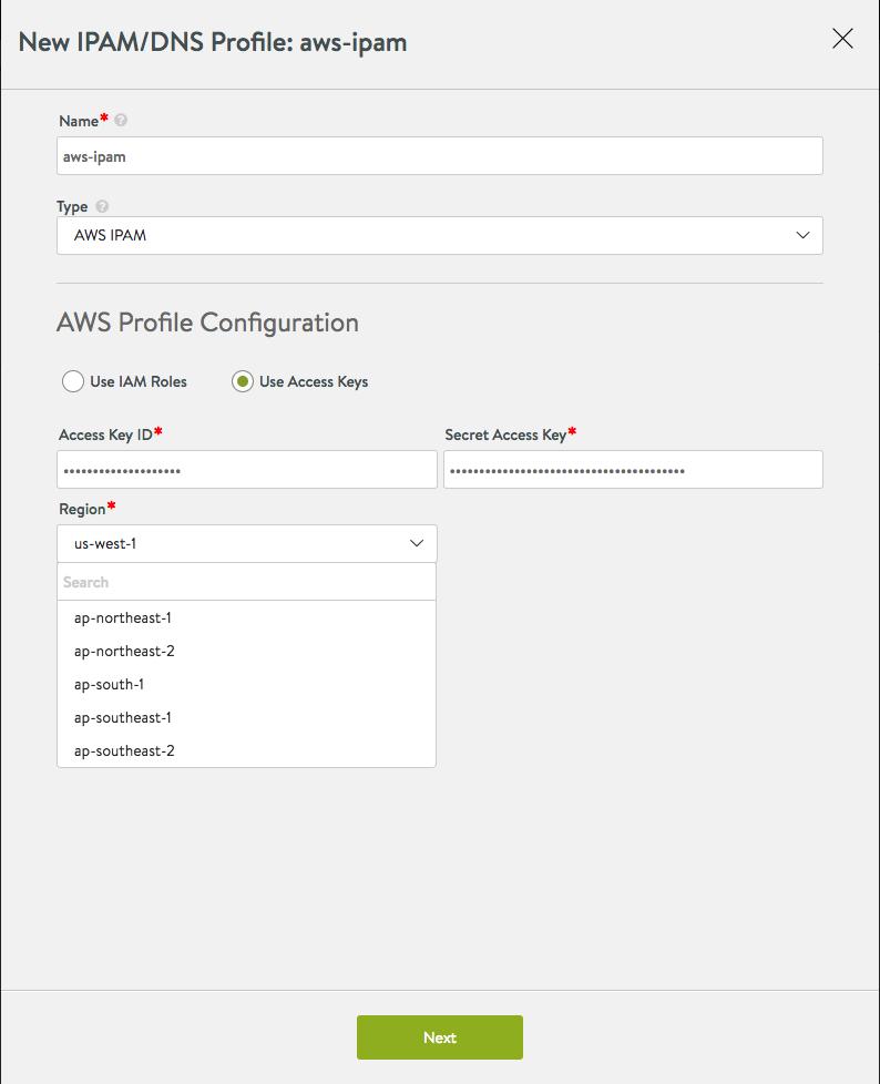 IPAM Provider (AWS) (16.3+)