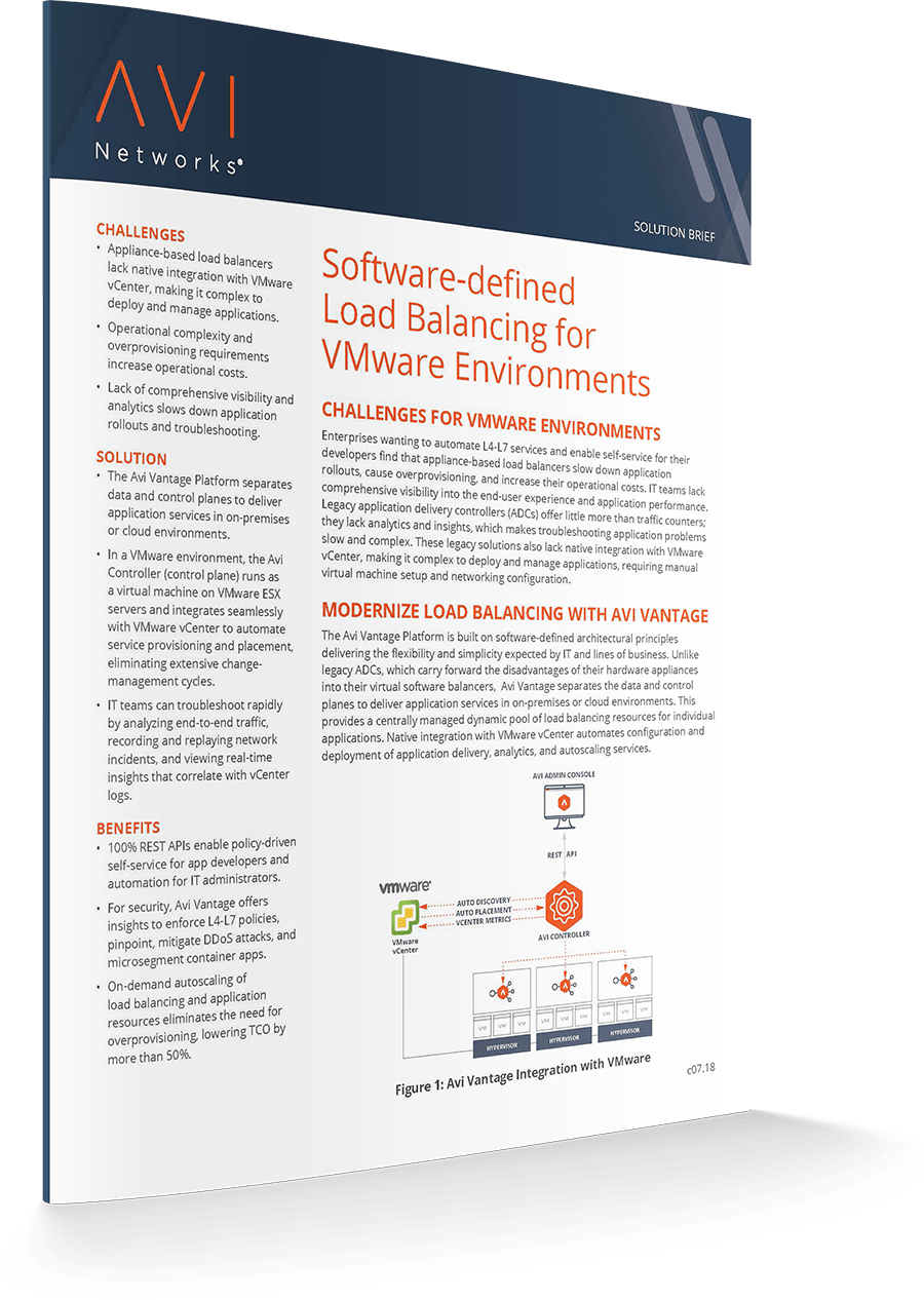 Modernize Your Load Balancing<br>for VMware Environments